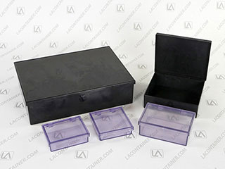 LABoxx Square ESD Plastic Rigid Boxes In ABS BAS and ABS CAS Materials