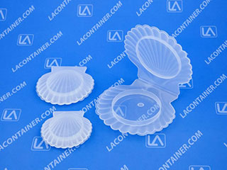 ShellCons Sea Shell Shaped Cosmetic Sampling Containers