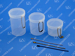 Metal Ball Chains For Loop Style Hinged Lid Plastic Containers