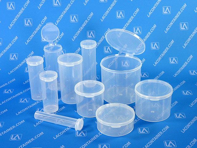 LAVials Large Plastic Lab Vials With Attached Lid