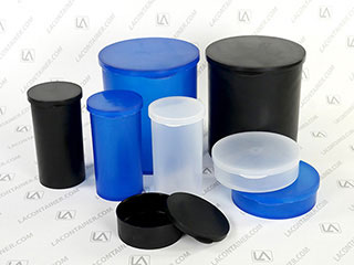 Statcons Two Piece Round Plastic ESD Containers